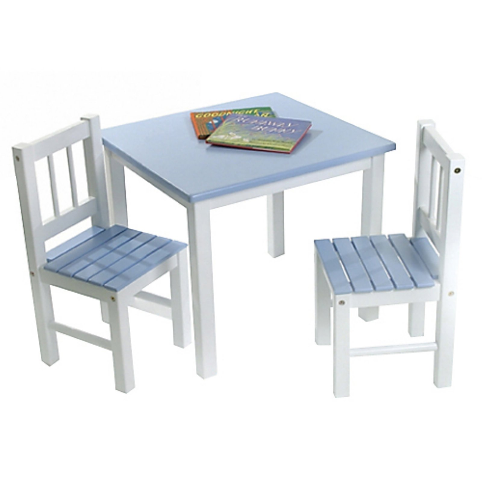 Charmant Lipper Kids Small Blue And White Table And Chair Set