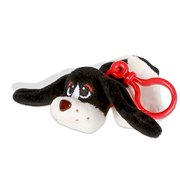 Plush Pound Puppies : Clip-on`s White and Black