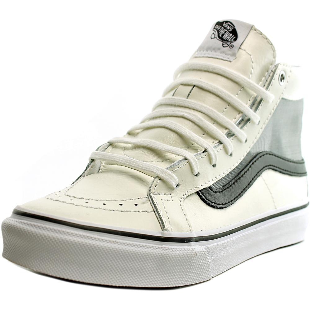 Vans SK8-Hi Slim Cutout Women  Round Toe Synthetic White Sneakers