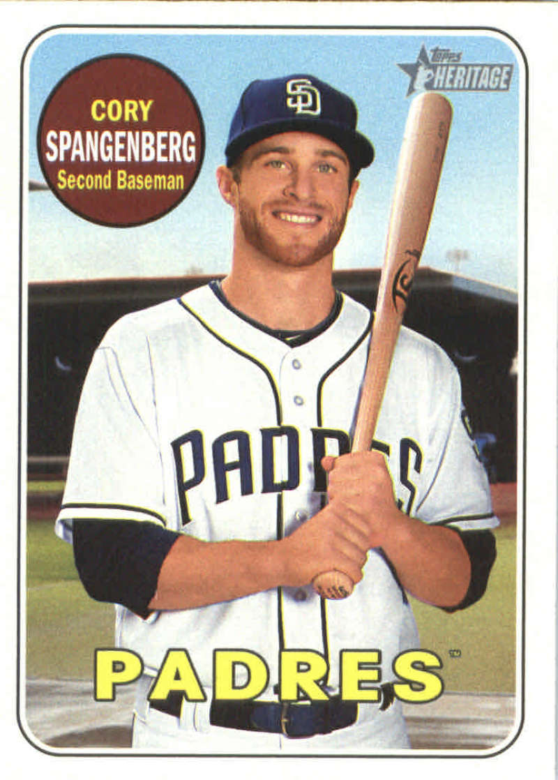 2018 Topps Heritage 281 Cory Spangenberg San Diego Padres Baseball