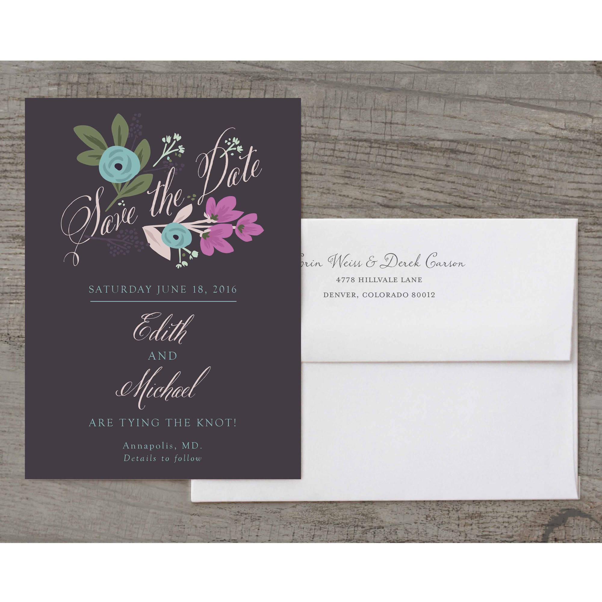 Sketchbook Botanical Deluxe Save the Date