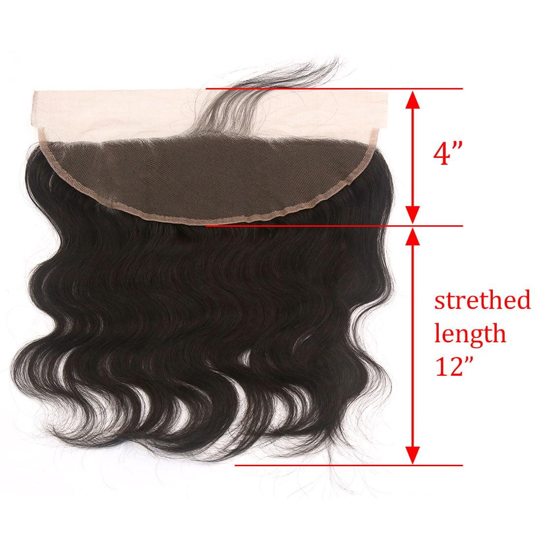 "12"" 13x4 Ear To Ear Lace Closure Free Part Brazilian Hair Extensions Body Wave - image 1 de 7"