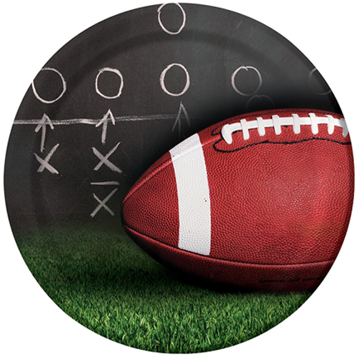 Football 'Sideline Strategy' Large Paper Plates (8ct)