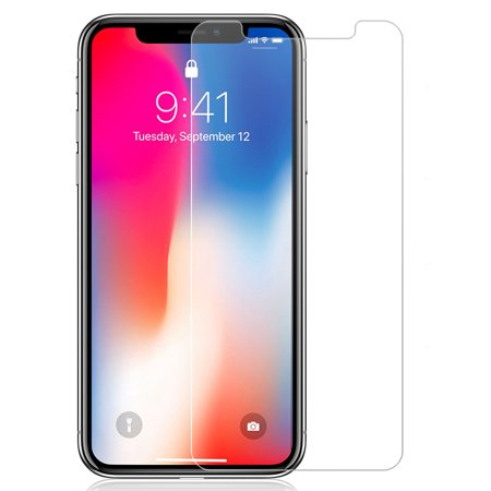 iPhone XR Tempered Glass, Nakedcellphone 9H Hard Clear Screen Protector Guard [Crack Saver] for Apple iPhone XR (2018) (Size 6.1