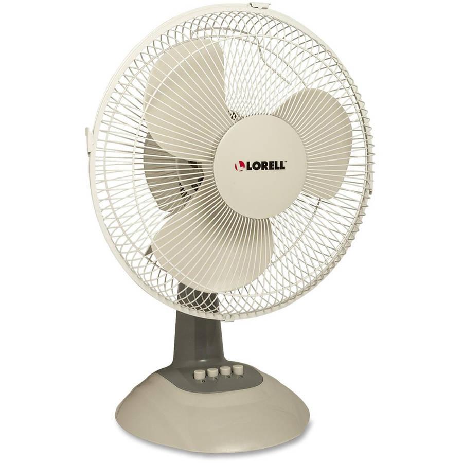 Lorell Desk Fan, Light Grey