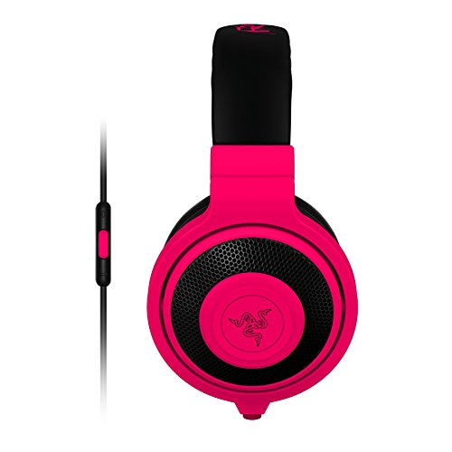 Razer Kraken - Analog Music & Gaming Headphones - Stereo - Neon Red - Mini-phone - Wired - 32 Ohm - 20 Hz - 20 Khz - Over-the-head - Binaural - Circumaural - 4.27 Ft Cable (rz04-01400300-r3u1)