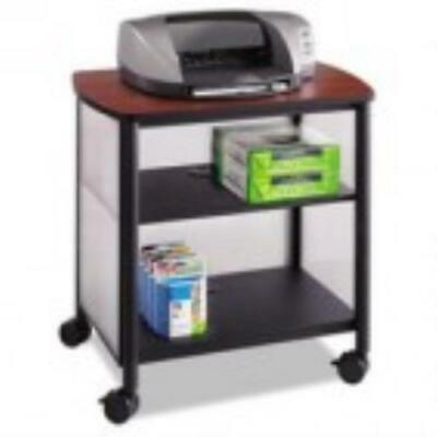 Safco Impromptu Machine Stand, One-Shelf, 26-1/4w x 21d x 26-1/2h, Black/Cherry