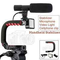 2020 NEW Handheld Camera Video Stabilizer Set Camera Bracket Holder Triple Shoe Mount With Video Light Mic for Cameras and Phone