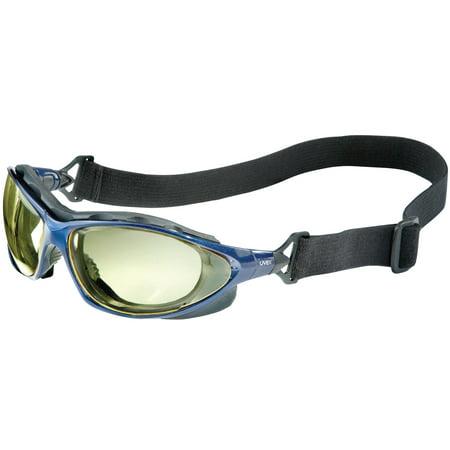 Honeywell Uvex Seismic Sealed Eyewear, Amber Lens, Polycarbonate, HC, Metallic Blue Frame