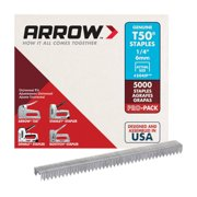 Arrow Fastener 1/4-Inch T50 Staples, 5000 Count