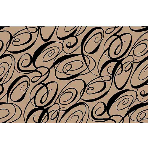 Springs Creative Creative Cuts Burlap Print Cali-Loops, 47/48, 1.5-Yard Bolt, Black