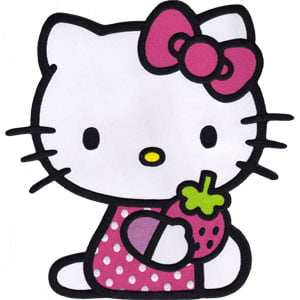 "Patch Hello Kitty Strawberry Sweet New 10"" Licensed p-hk-0015-x by C & D"