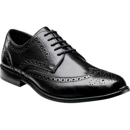 nunn bush men's nelson wing tip oxford,black  9.5 w (Nunn Bush Colton Mens Leather Walking Shoes)