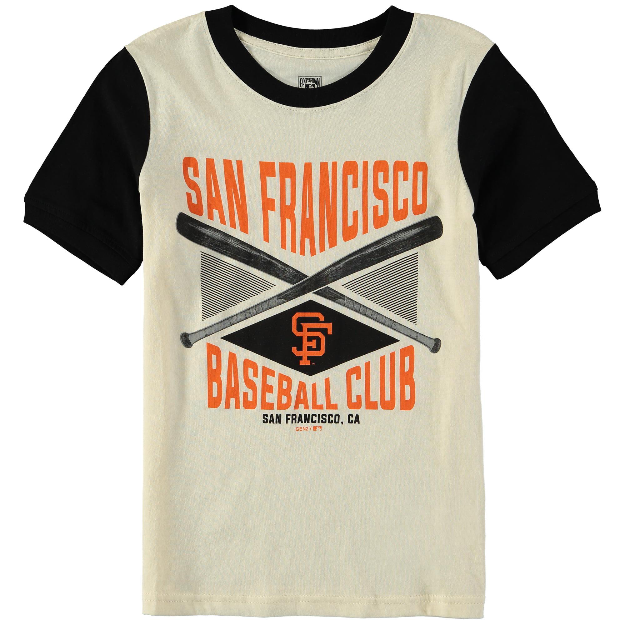 San Francisco Giants Youth Timeless Pastime Ringer T-Shirt - Cream/Black
