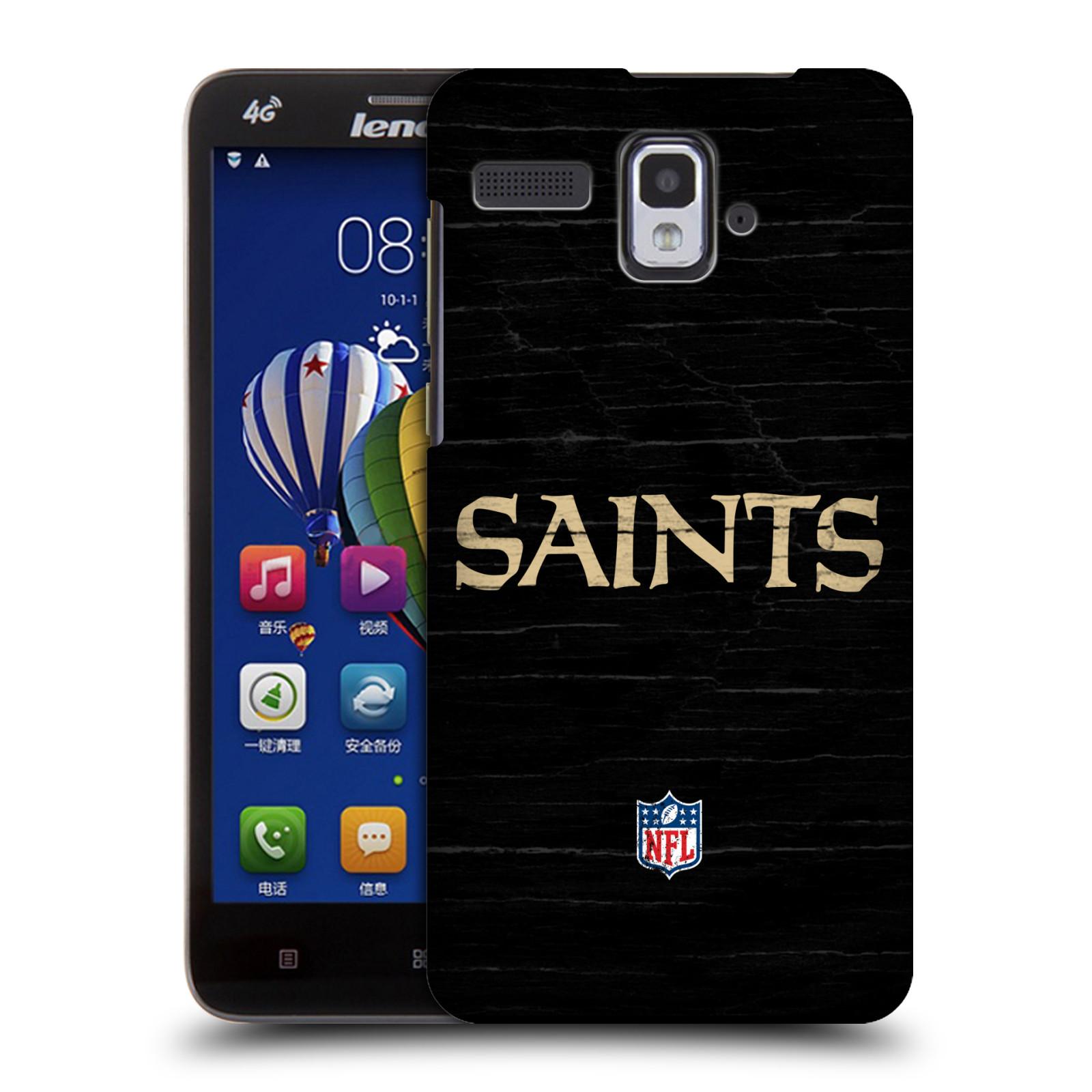 OFFICIAL NFL NEW ORLEANS SAINTS LOGO HARD BACK CASE FOR LENOVO PHONES