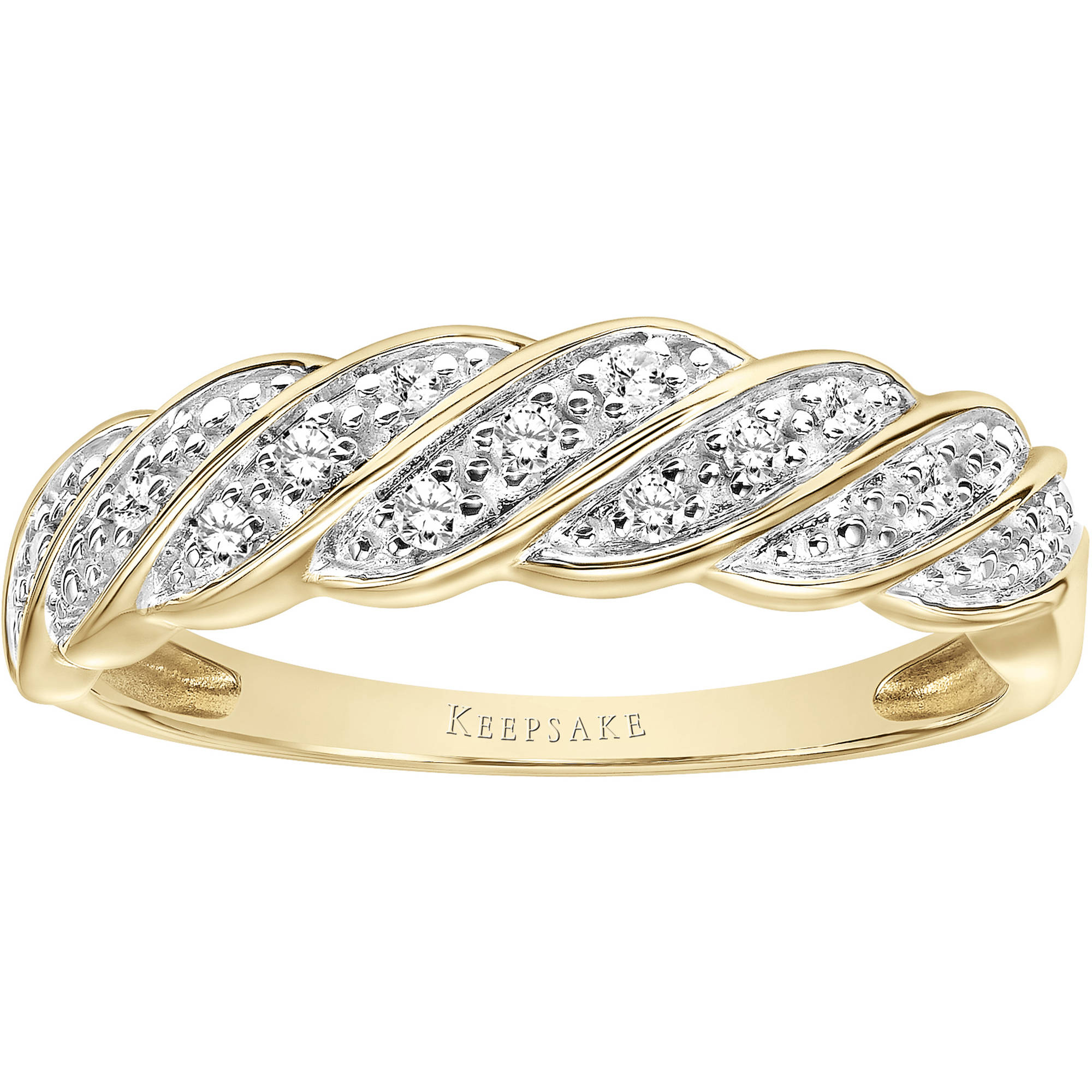 Keepsake Eternal 1/10 Carat T.W. Certified Diamond 10kt Yellow Gold Band