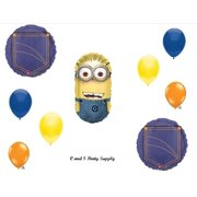 DESPICABLE ME 2 MINIONS Denim Happy Birthday PARTY Balloons Decorations Supplies