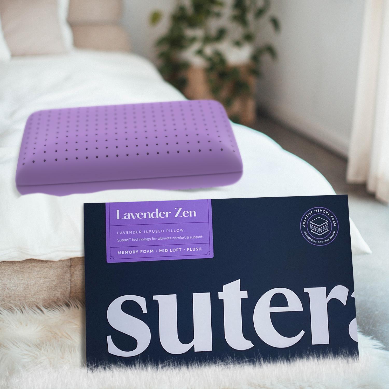 SUTERA Lavender Zen Pillow Lavender Scented Cooling Adaptive Memory Foam