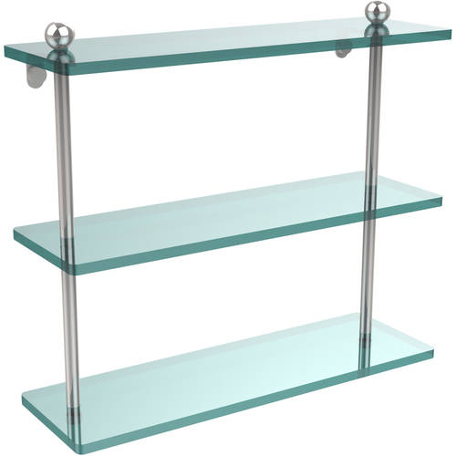 """16"""" Triple Tiered Glass Shelf (Build to Order)"""
