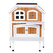 Trixie Pet Products, 2-Story Cottage, Outdoor Cat House, Brown, 30-in