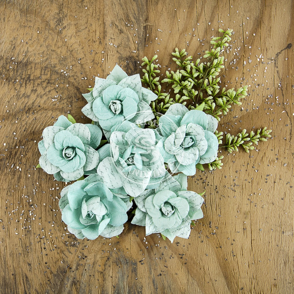 "Prima Marketing Manhattan Paper Flowers 2"" 6/Pkg-Broadway"