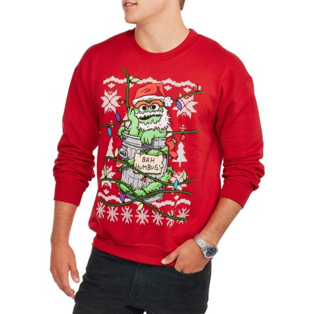 the grouch bah humbug ugly christmas sweater Men's crew neck graphic - Bah Humbug Halloween