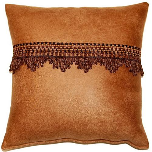 Fox Hill Trading Corbin Saddle 17-inch Trimmed Throw Pillows (Set of 2)