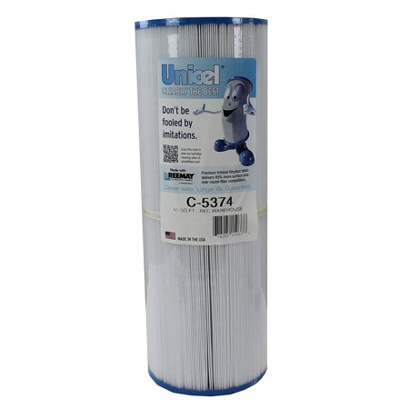 C-5374 Replacement Filter Cartridge for 65 Square Foot Rec Warehouse S2/G2 Spa, Rainbow, Waterway, Diameter: 5 5/16-inch; length: 14 13/16-inch By Unicel from (Rec Warehouse Spas)