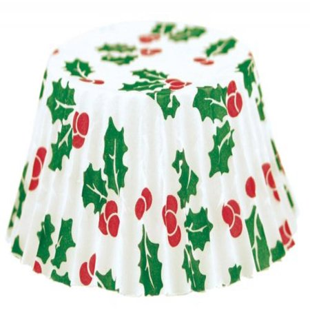 Fox Run 4972 Christmas Bake Cups, Petit Four, 100 - Christmas Capes
