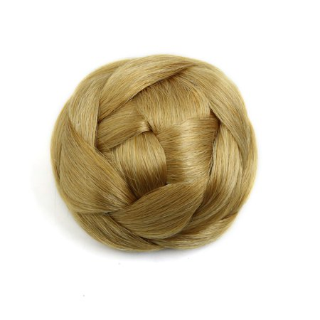 Synthetic Clip In Braided Hair Bun Chignon Donut Ponytail Hairpieces for Lady