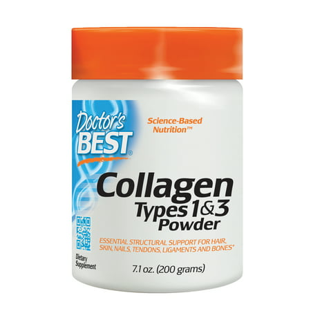 Doctor's Best Collagen Types 1 and 3, Non-GMO, Gluten Free, Soy Free, Supports Hair, Skin, Nails, Tendons and Bones, 200 (Best Collagen For Wrinkles)