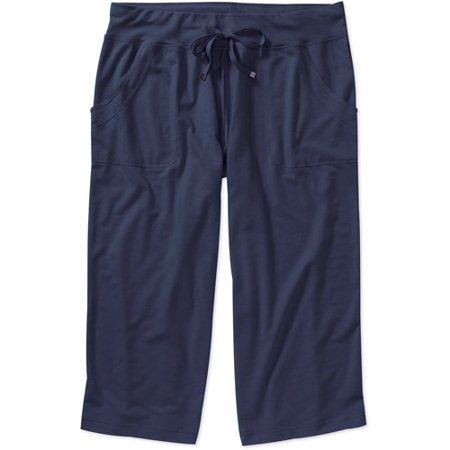 920f6e1dd38 Danskin Now - Womens Plus-Size Knit Capri Pant - Walmart.com