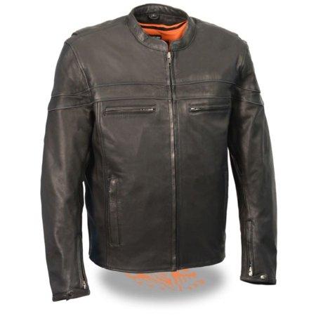 Milwaukee Mens Lightweight Sporty Scooter Crossover Jacket Black (Lightweight Motorcycle Jacket)