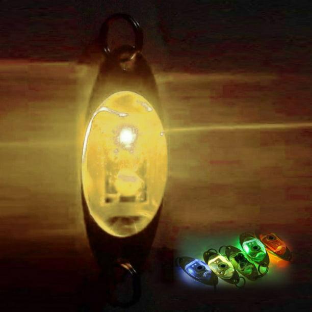 Saltwater LED Flash Deep Drop Underwater Eye Shape Fishing Squid Fish Lure Light