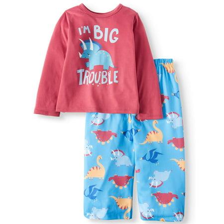 878c1fdb4 Toast & Jammies Long Sleeve Top & Pants Pajamas, 2pc Set (Toddler ...