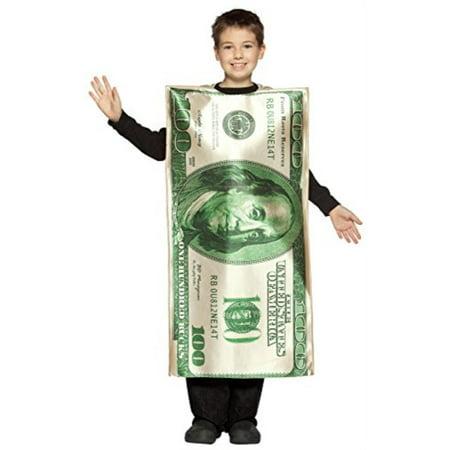 UHC Boy's 100 Dollar Bill Funny Theme Fancy Dress Child Halloween Costume, Child M 7-10](Bill Costume)