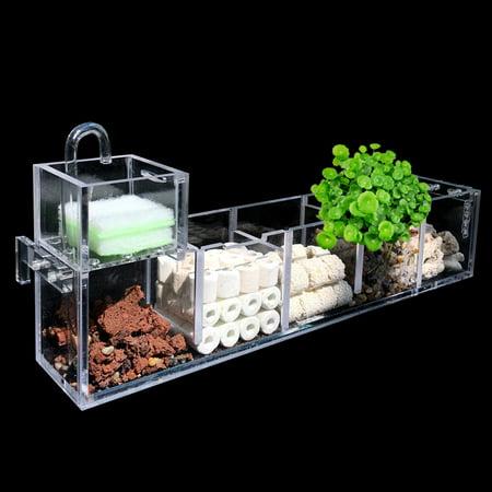 2-6 Grids Acrylic Aquarium Fish Tank External Hang On Filter Box Without