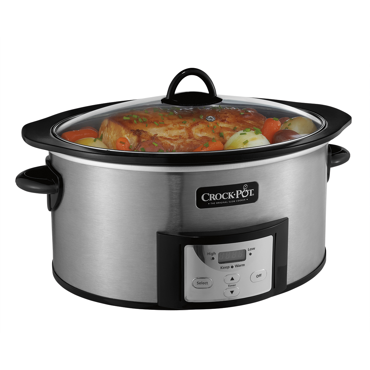 Crock-Pot Programmable Slow Cooker with Stovetop-Safe Cooking Pot, 6 Quart