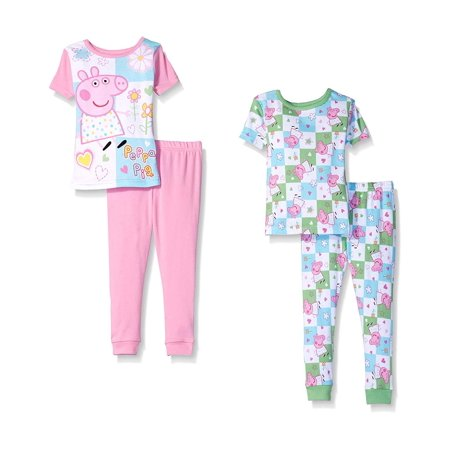 Peppa Pig Toddler Girls' 4pc Cotton Pajama Set](Peppa Pig Halloween Stencil)