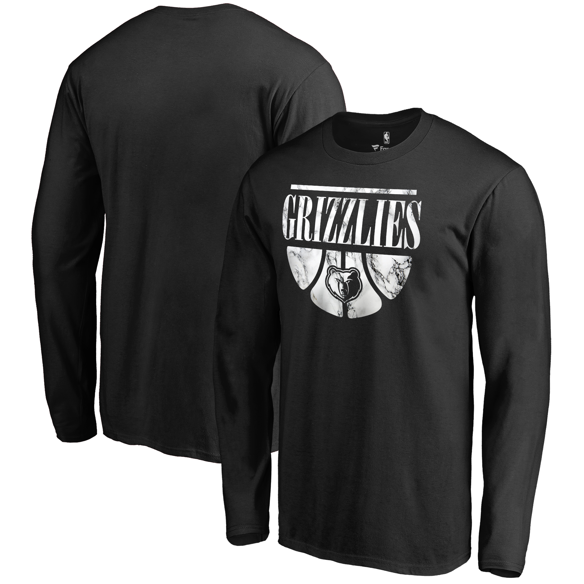 Memphis Grizzlies Fanatics Branded Buckets Long Sleeve T-Shirt - Black