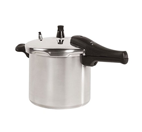 Energy-efficient Aluminum 6-Quart Pressure Cooker, Silver...