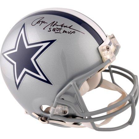 - Roger Staubach Dallas Cowboys Autographed Riddell Pro Line Helmet with SB VI MVP Inscription - Fanatics Authentic Certified