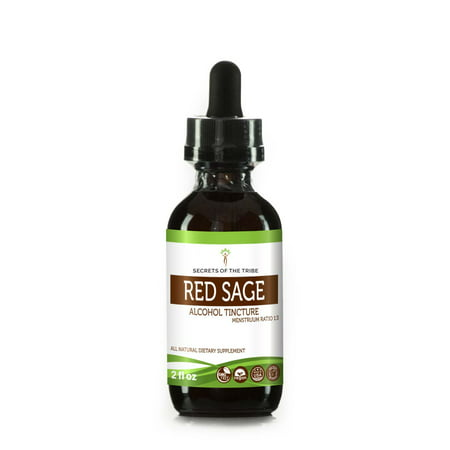 Red Sage Tincture Alcohol Extract, Organic Red Sage Salvia Miltiorrhiza Helps Cardiovascular System and Promotes Immune System Health 2 oz