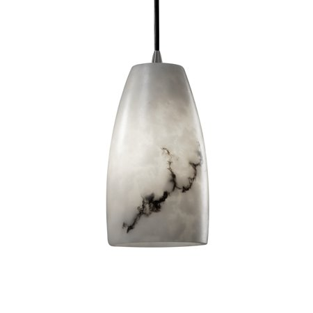 Justice Design Group  LumenAria Tall 1-light Brushed Nickel Pendant