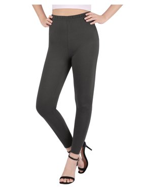 9b921181583 Product Image HDE Women s Plus Size Leggings Ultra Soft Fashion Design  Stretch Pants (Light Gray