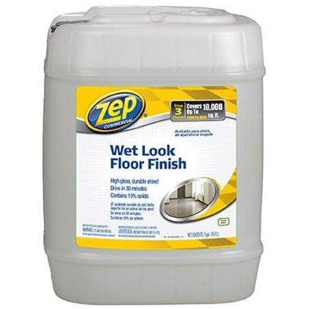 Zep Zuwlff5g Wet Look Floor Finish 5 Gal Plastic Can