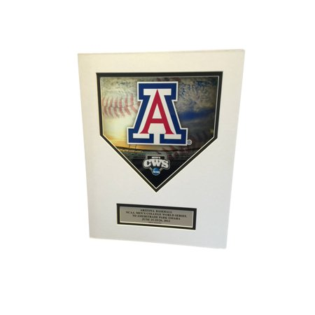 Arizona Wildcats Ready To Frame 2012 Cws  Die Cut Homeplate  Picture 11  X 14