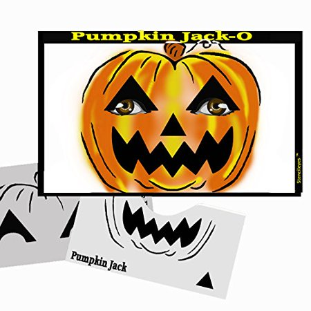 Halloween Face Painting Stencil - StencilEyes Pumpkin Jack-O, The original face painting stencils - Made in the USA By ShowOffs Body Art Ship from US (Disney Halloween Stencils For Pumpkins)