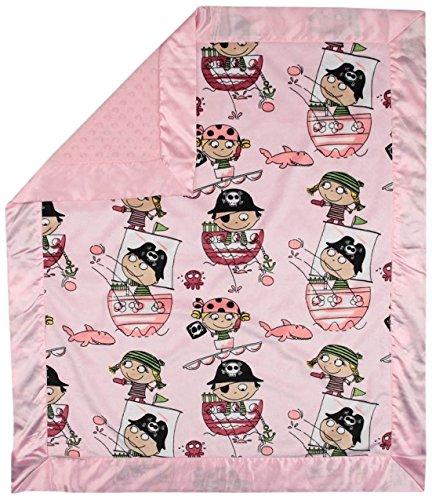 My Blankee Pirates Minky Pink w/ Minky Dot Pink Baby Blan...