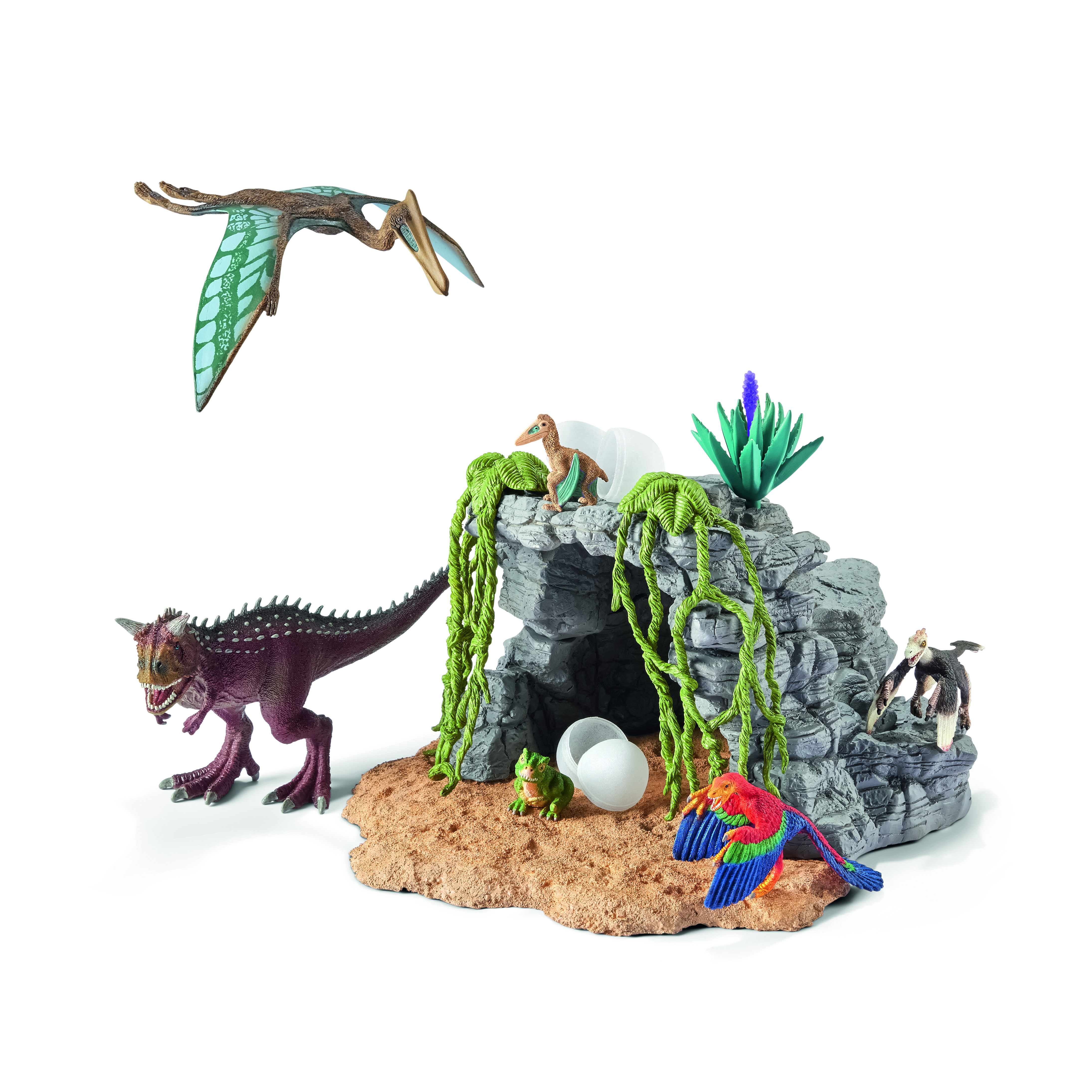 Schleich 42261 Dinosaur Set with Cave